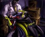 Batgirl Chloroformed by Black Mask