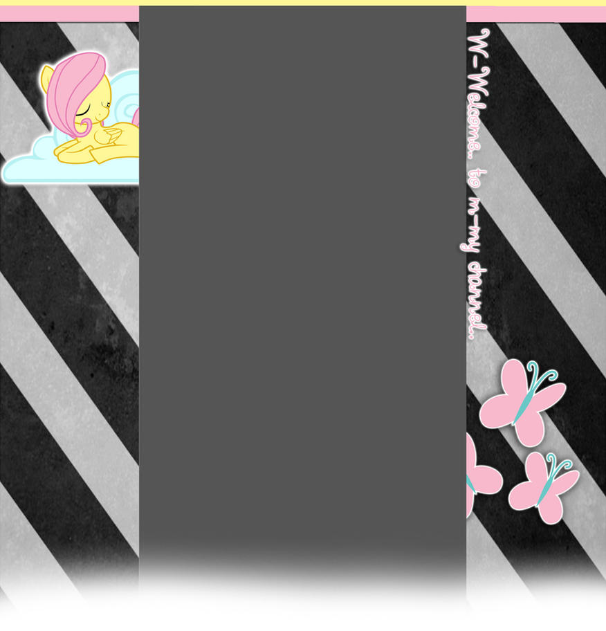Request - Fluttershy Youtube Background by Winter-218