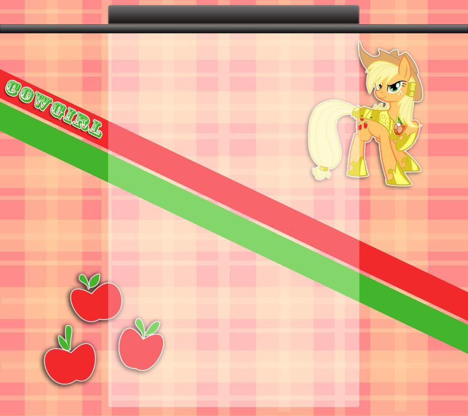 Applejack Youtube Wallpaper by Winter-218