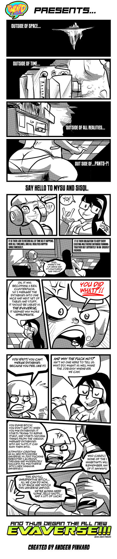 Pinkard Comix universe reboot one- shot by andehpinkard
