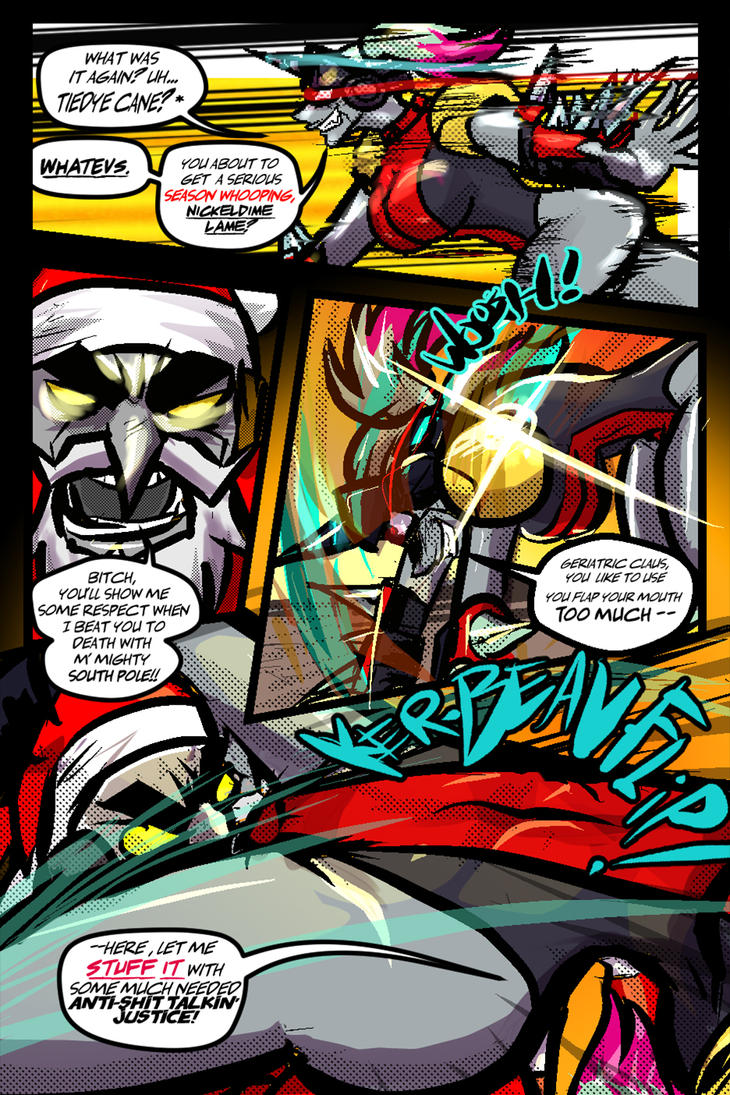 Groperion pg 66 Anti-shit talkin' justice by andehpinkard