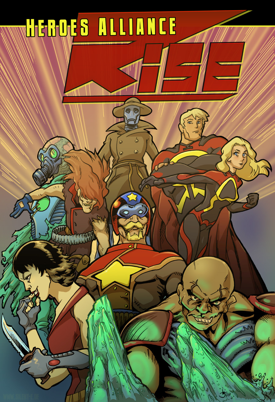 Heroes Alliance RISE Short Story Cover by Abt-Nihil