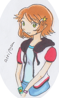 My OC - Pokemon trainer outfit practice 1