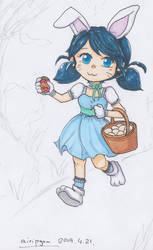 Happy Easter - Bunny Marinette by Airipyon