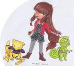 MLB x Pokemon - Lila, Abra and Kecleon by Airipyon