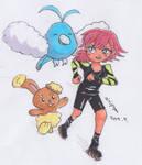 MLB x Pokemon - Alix, Swablu and Buneary by Airipyon