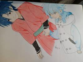 Aoba and Koujaku by PKlovesDW