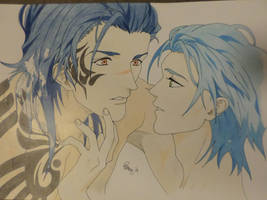Koujaku and Aoba - Happy birthday Koujaku! by PKlovesDW