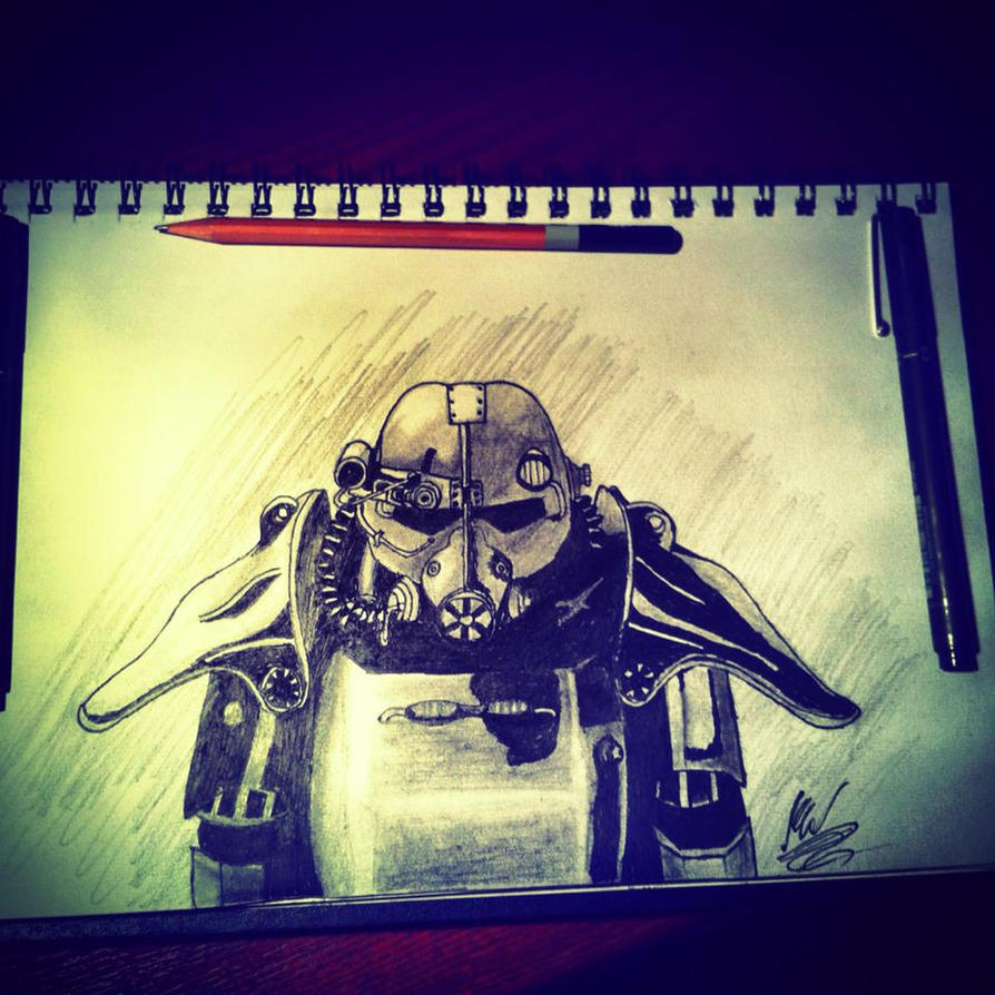 Fallout 3 Fan Art: Brotherhood Of Steel Paladin