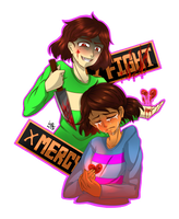 undertale-Chara and Frisk by KillerMM
