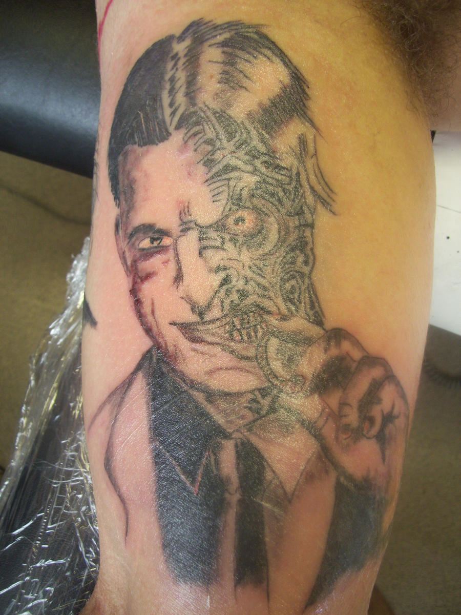 2 face tattoo by dazskin69 on deviantart for Two faced tattoo