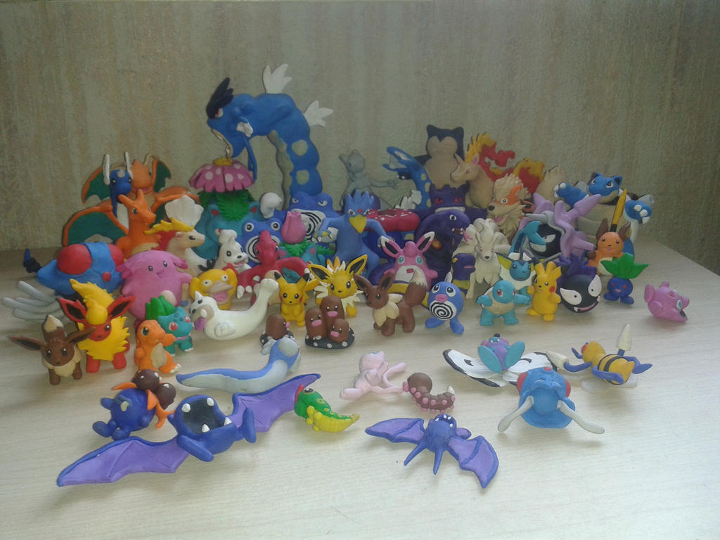 my collection of pokemon polymer clay of 1G by wolengel