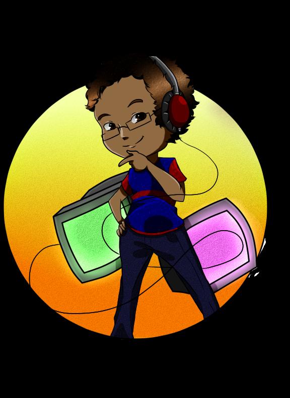 Gamer Commission chibi by iMusicalMinji
