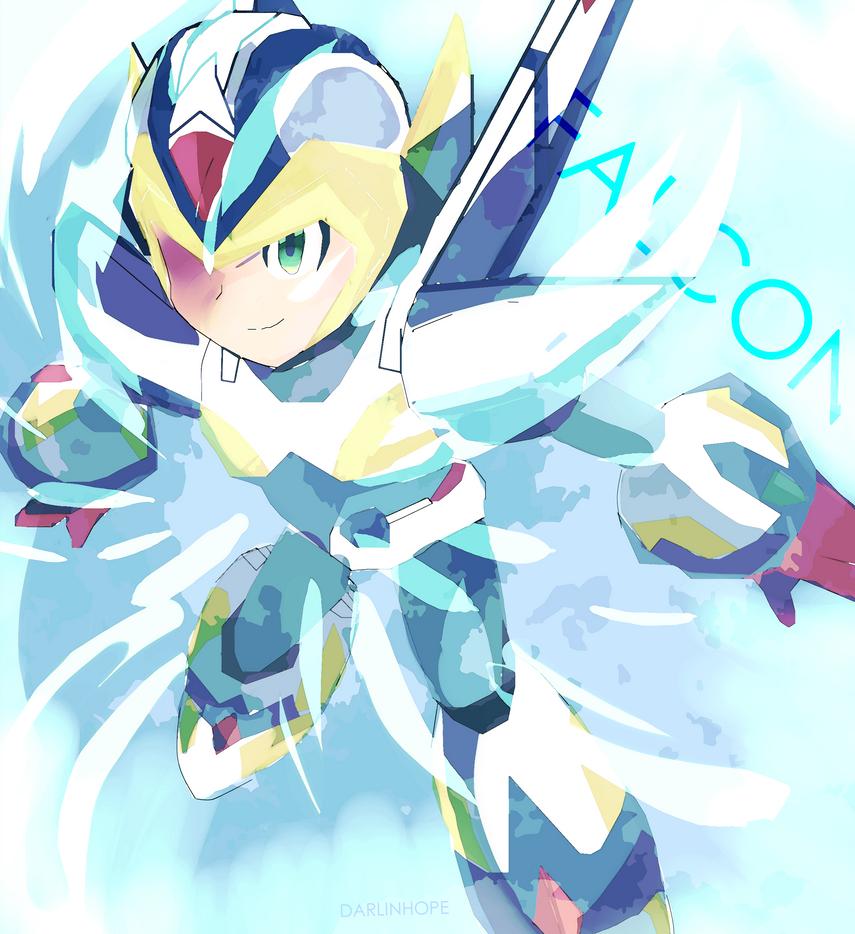 Falcon Armor Megaman X by MegumiNoLove