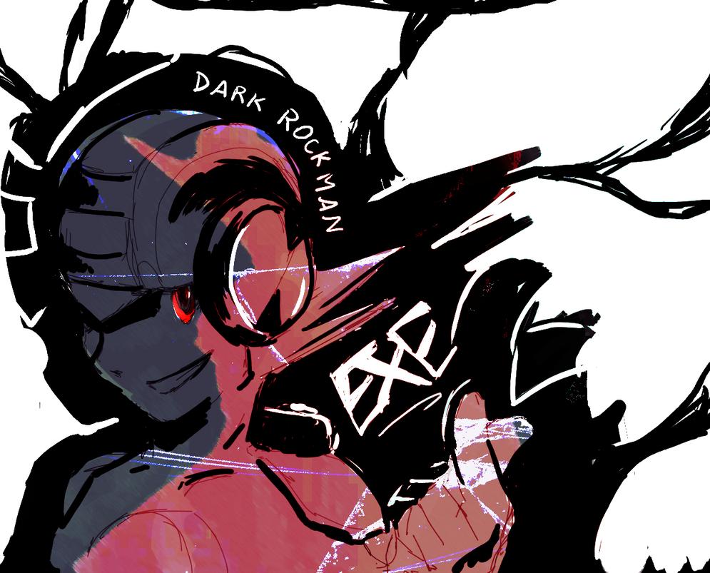 Dark rockman doodle by MegumiNoLove