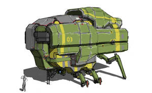 mining vessel - command pod by Daemoria