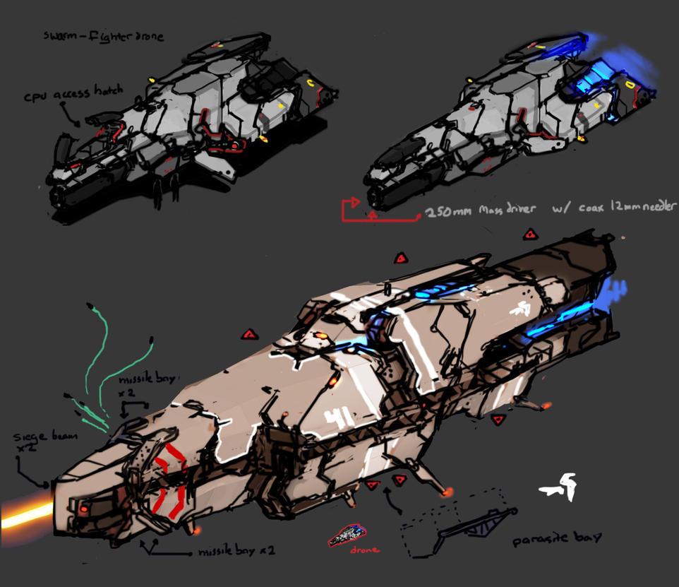 Drone 'n Corvette by Daemoria