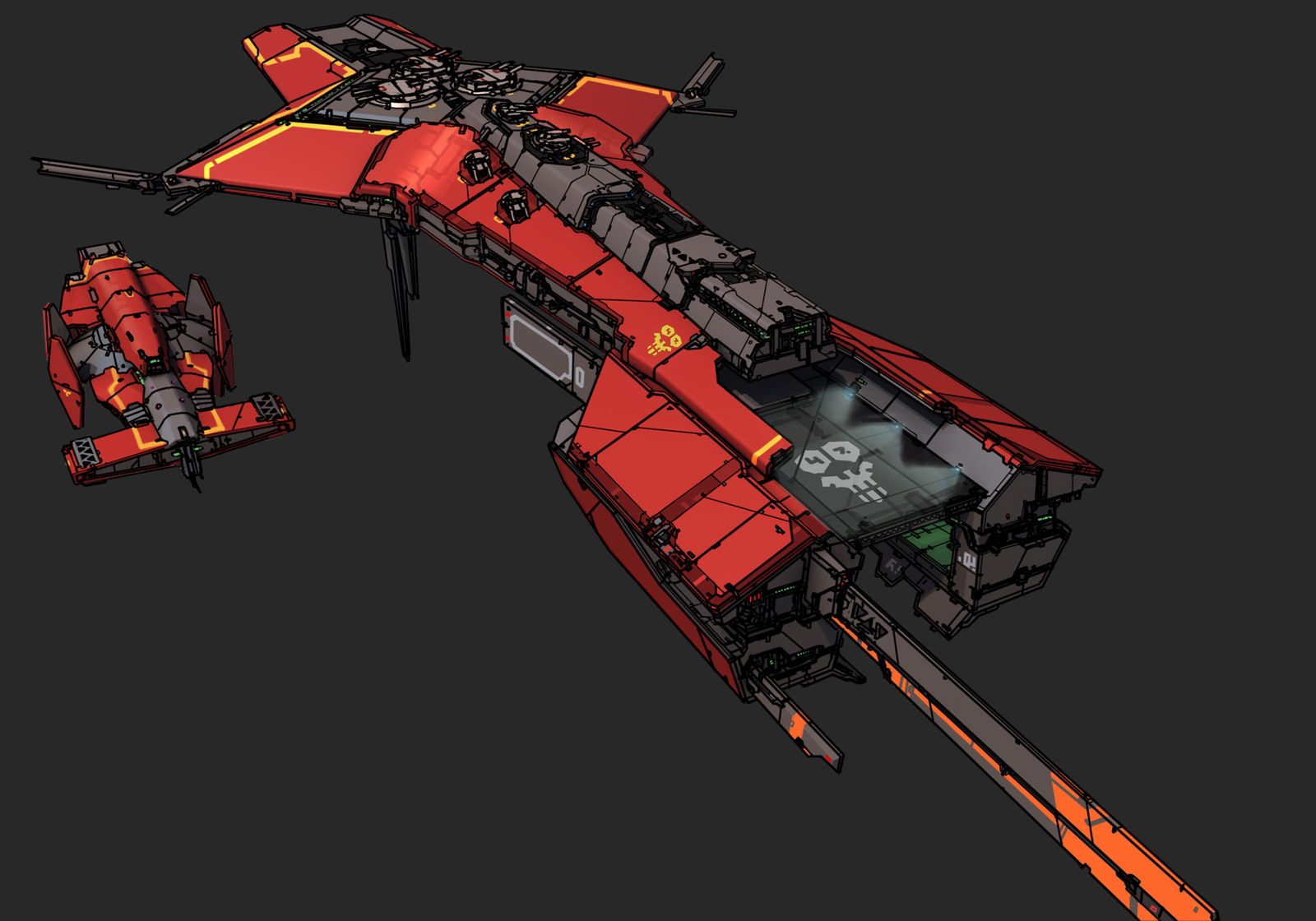 Battlecarrier - Red Horizon by Daemoria