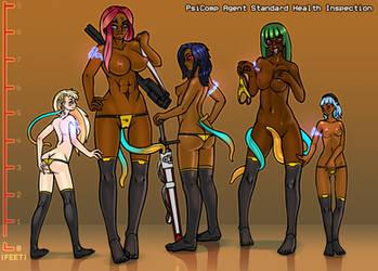 PsiComp Agents -underwear- by Daemoria