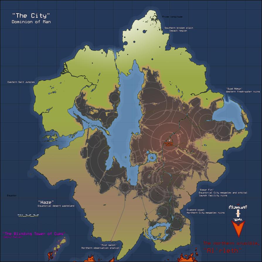 Zur-Anbat Geopolitical Map by Daemoria
