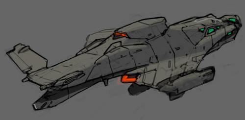 -scrap- Needlecraft gunship