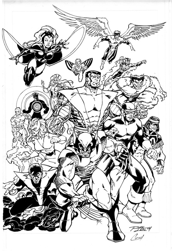 Ron Lim classic xmen pencils by Ron Lim inks by Curiel by