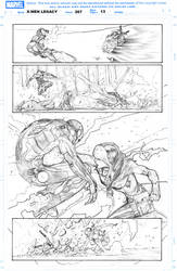 Rogue vs Iron man by Rafa Sandoval