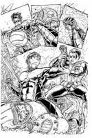Nightwing By Juan Ryp, inks Curiel by lobocomics