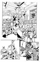 Avengers By Perez, inks by Curiel by lobocomics