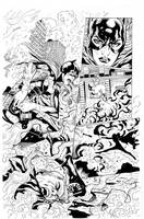 Batgirl by Sampere inks by Curiel 2 by lobocomics