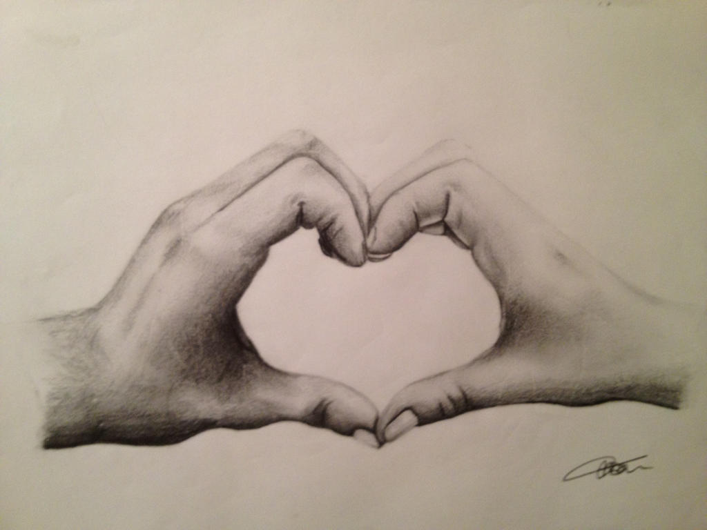 making heart by hands-#20