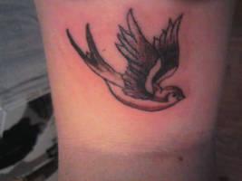 My new swallow tattoo by LJ5784