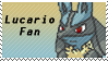 Lucario Fan Stamp by rossmallo