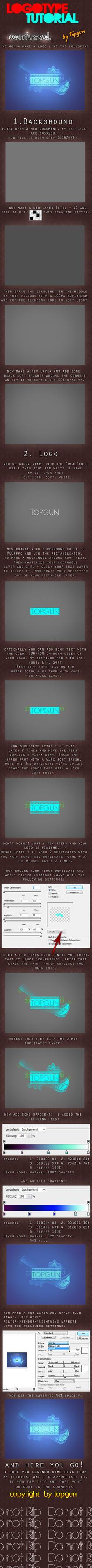 confused. Logotype Tutorial by Topgun-GFX