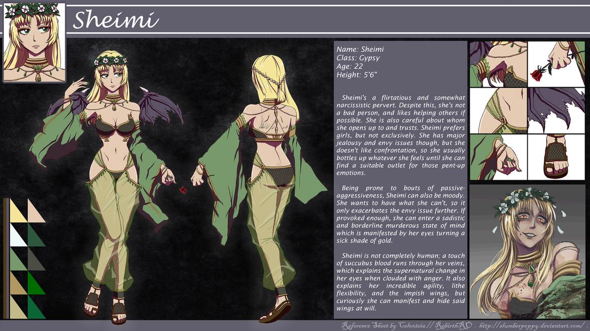 Ragnarok RRO - Gypsy Sheimi Character Sheet by SlumberPoppy