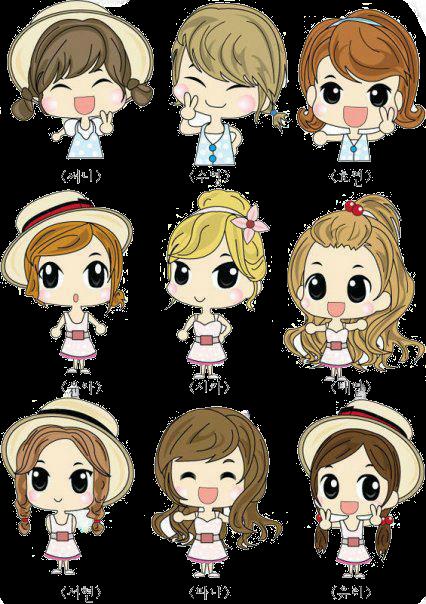 Girls Generation Chibi PNG
