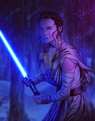 Star Wars: Rey by tylercairnsart