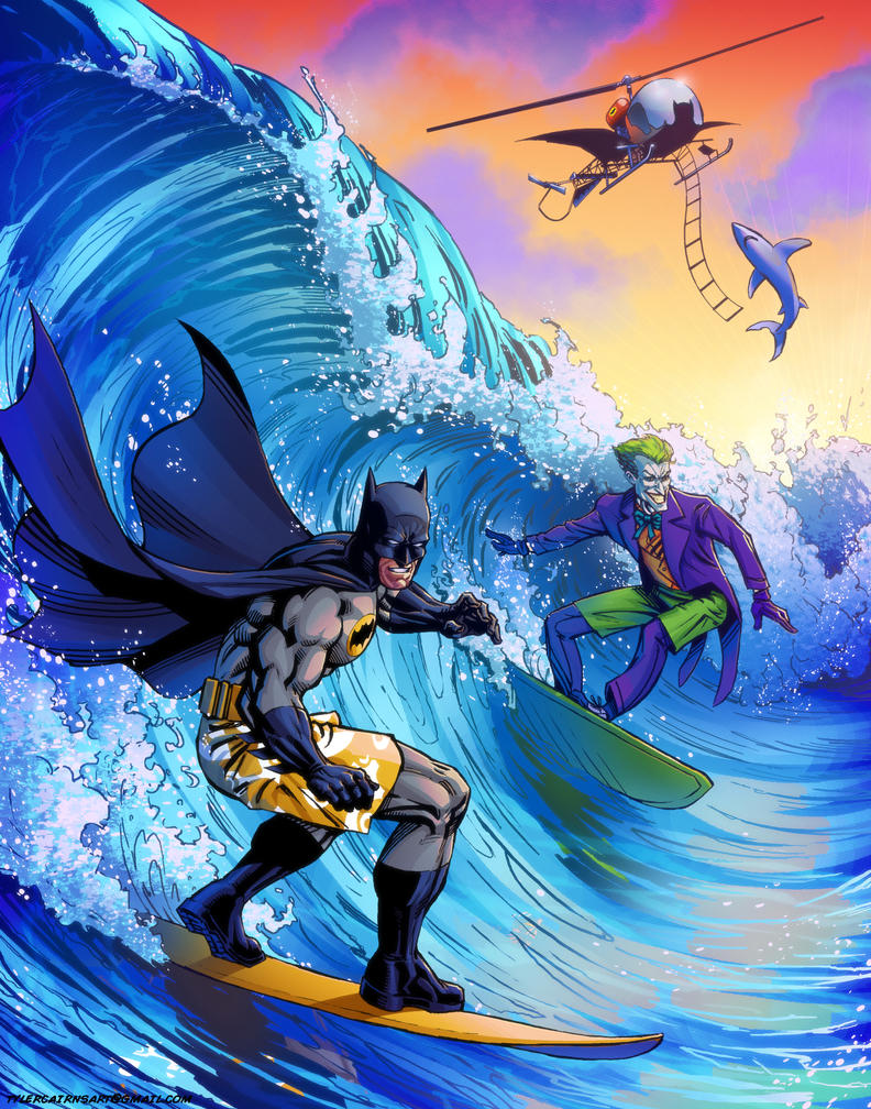 Surfs Up Batman by tylercairnsart
