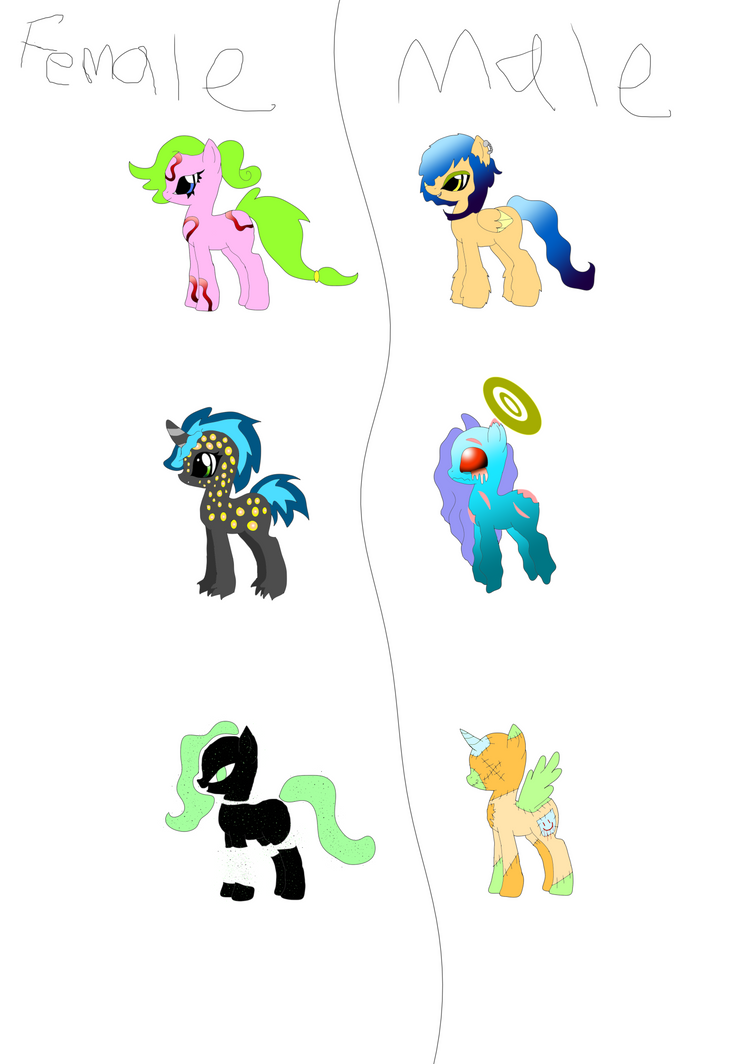 my little pony Free Adoptables by Zougethebat