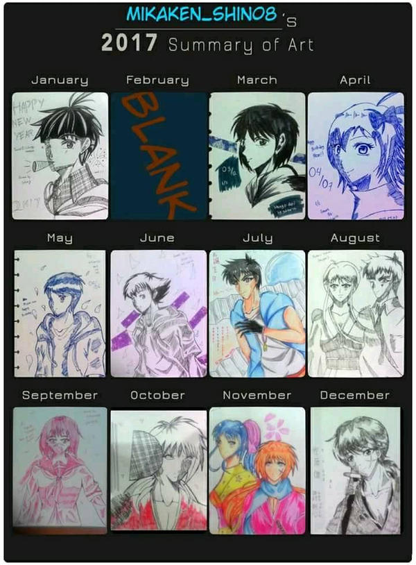 2017 Summary of art ( late post )  by julikatsubasasta95