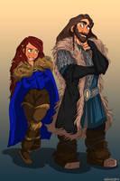 Aveya and Thorin by kallielef