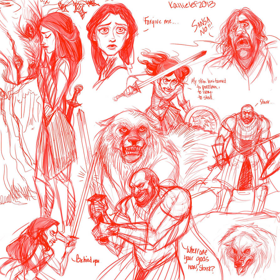 Sansa BAMF sketchdump by kallielef on DeviantArt