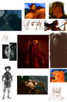 ASoIaF/LotR Sketchdump +Vikings by kallielef