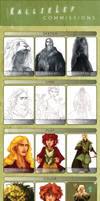 Commissions Pricing and Example Sheet