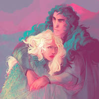 Color Challenge: Daenerys and Jon by kallielef