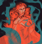 Color Challenge: Team Dragonstone (Melisandre)
