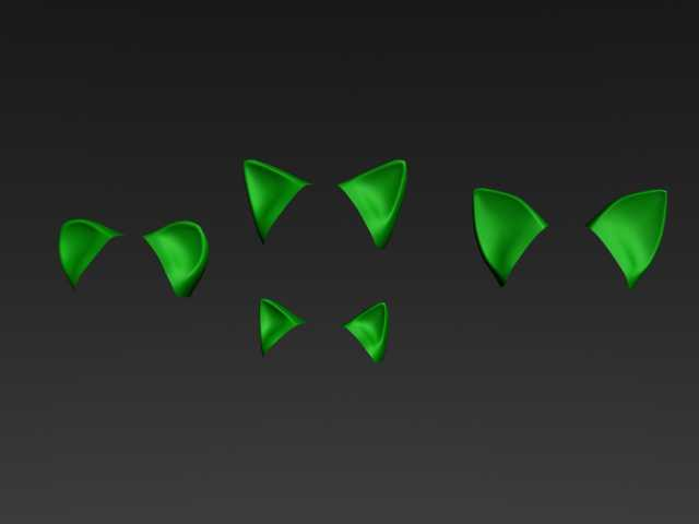 Sonic Base 3D - Ears (detached) by Handepsilon