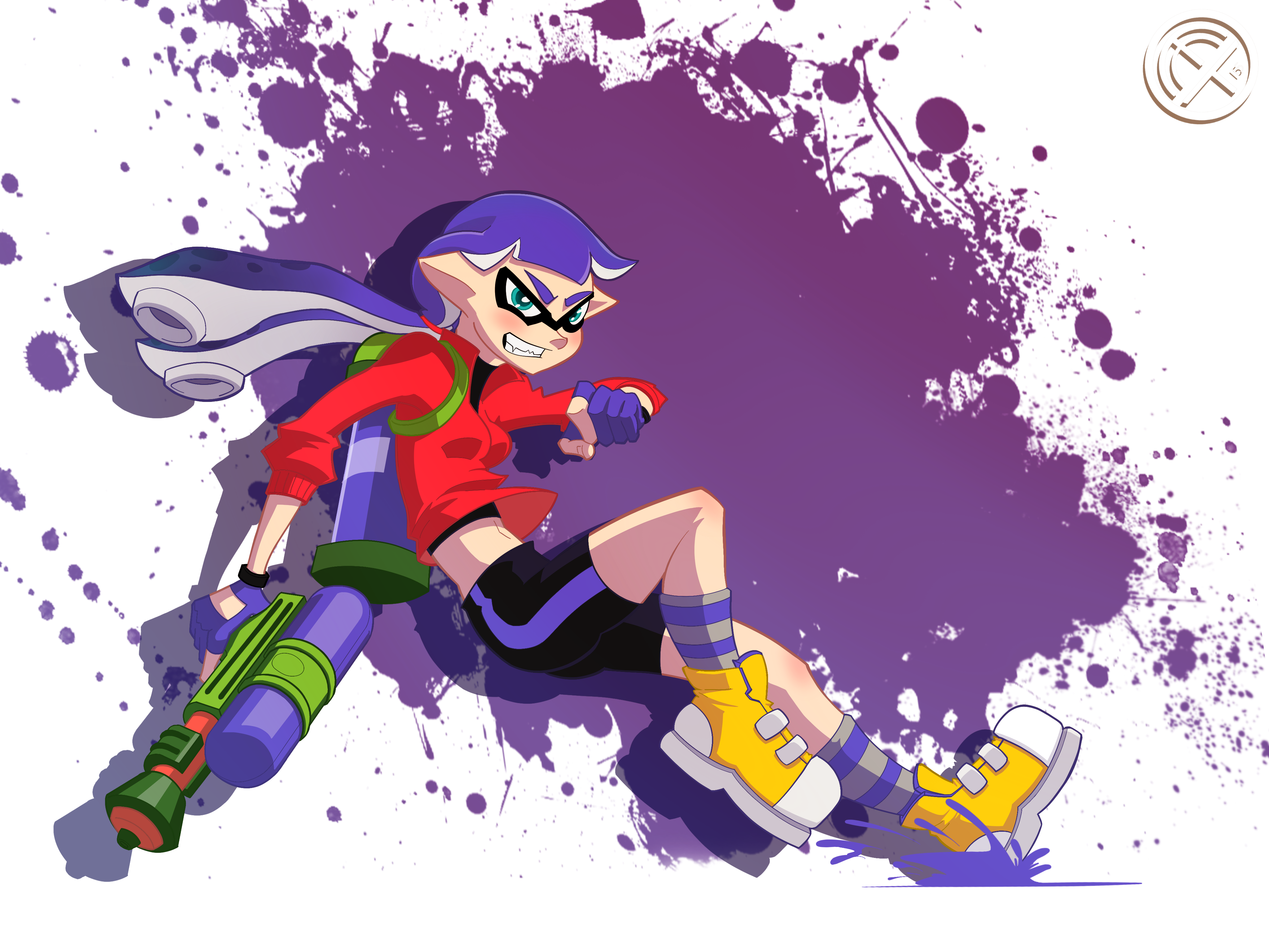 splatoon fanart inkling who needs a name by theshinyguy on deviantart