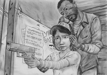 The Walking Dead - Lee and Clem by ElStormo