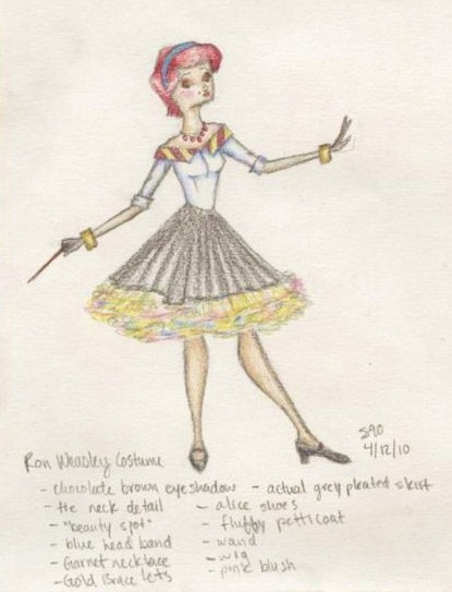 Female Ron Weasley Costume by sahadlich90
